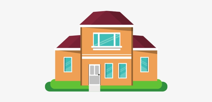 House Vector Illustration Couple And A House Cartoon Png Image Transparent Png Free Download On Seekpng