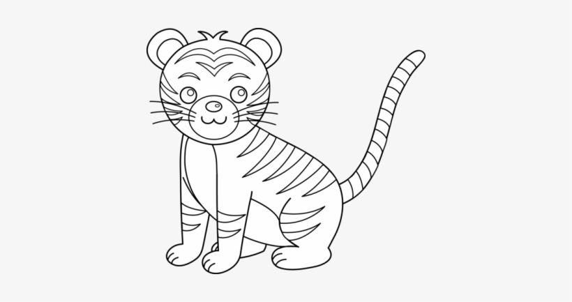 Tiger Coloring Pages & The A - Z Of Tiger's Facts - StPeteFest.org   433x820
