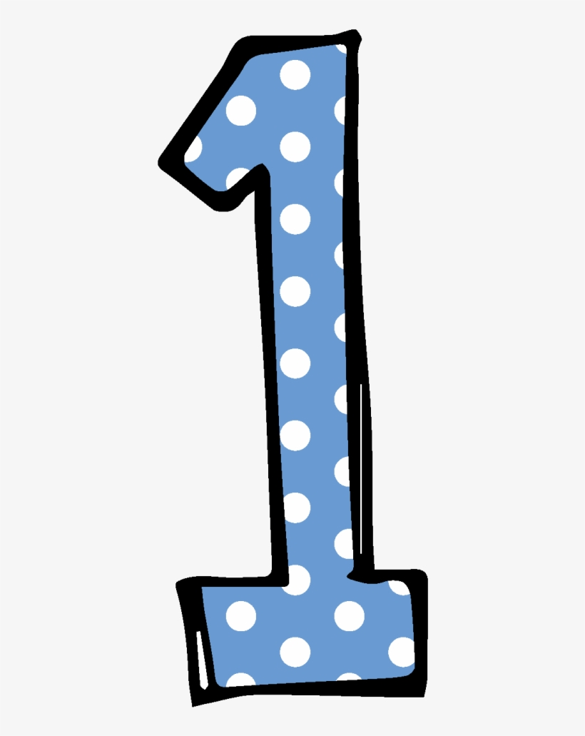 Clipart Numbers Polka Dot - Cute Number 1 Clipart PNG Image | Transparent PNG Free Download on SeekPNG