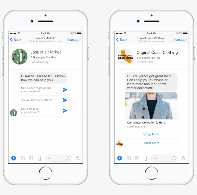 Facebook Click To Messenger Ad - Login Error Message Mobile
