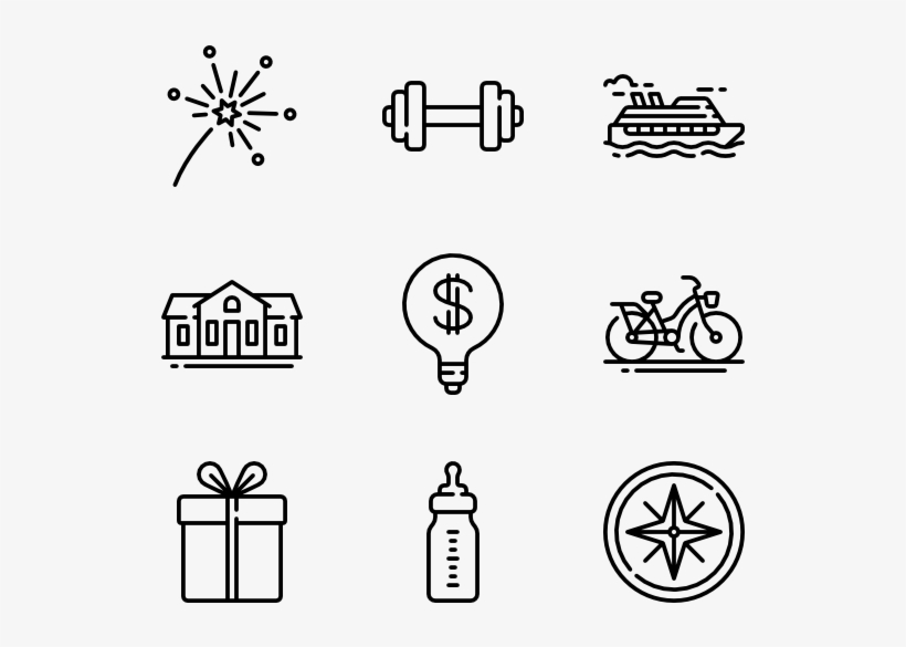 New Year S Resolution Hobbies Icons Png Image Transparent Png Free Download On Seekpng