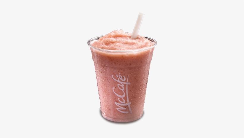 Hero Mccafe-smoothie - Strawberry Banana Protein Smoothie Mcdonalds, transparent png download