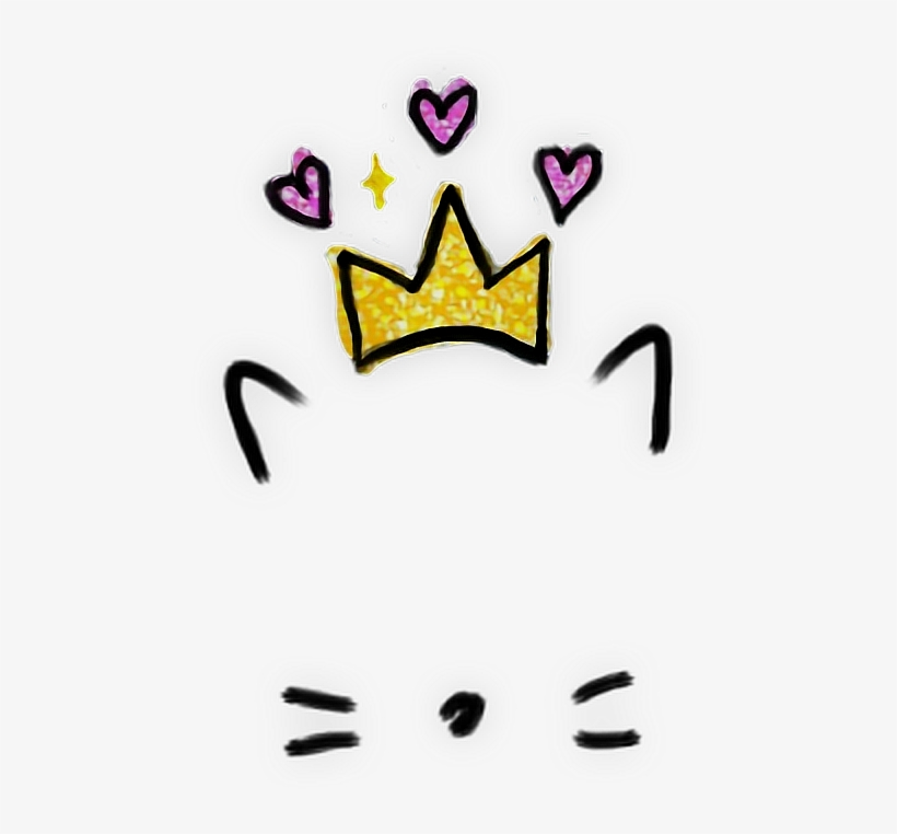 Tumblr Snapchat Aesthetic Filter Love Cute Crown Heart Cute
