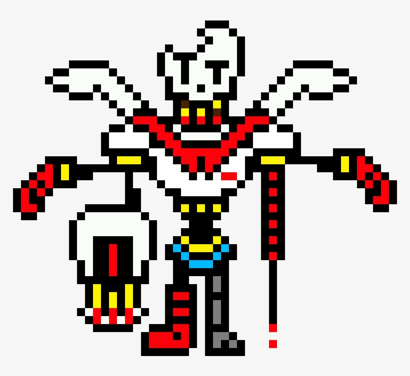 Papyrus Sprite : Fellswap papyrus fight by themememaster84.