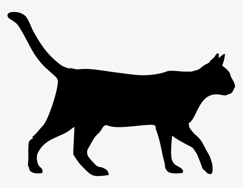 Cats Walking Png Clip Black And White Stock Black Cat Walking Cartoon Png Image Transparent Png Free Download On Seekpng