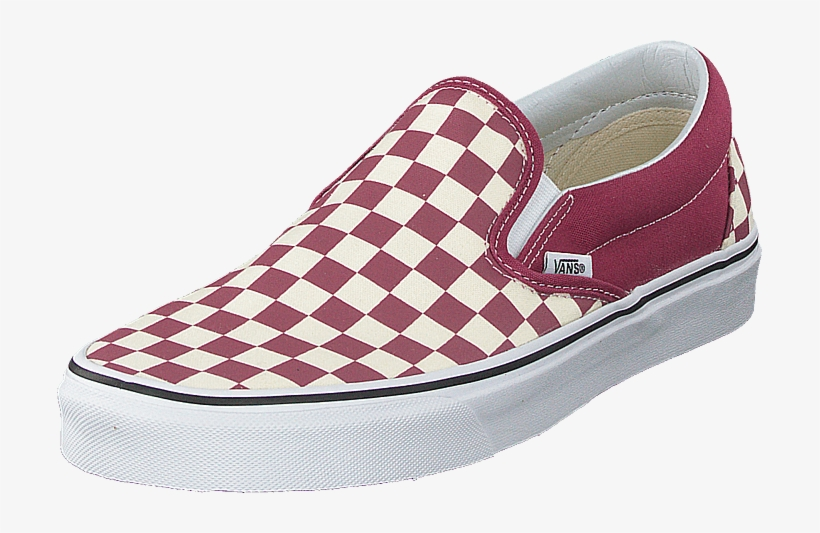 Ua Classic Slip-on Dry Rose/white - Red And White ...