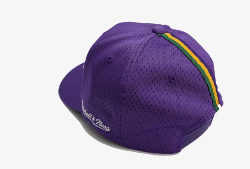 b4da633928de Utah Jazz Mitchell   Ness Jersey Logo 110 Flex Purple - Hat PNG ...