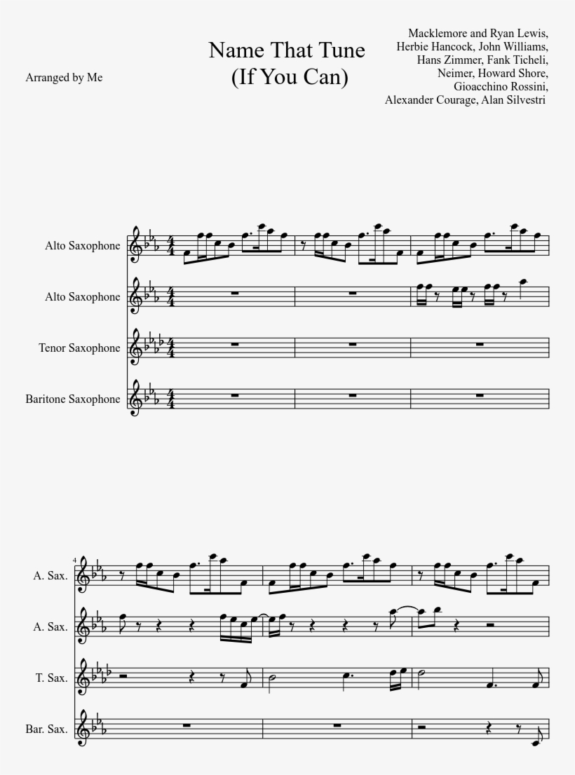 Print - Spooky Scary Skeletons Sheet Music Alto Sax PNG