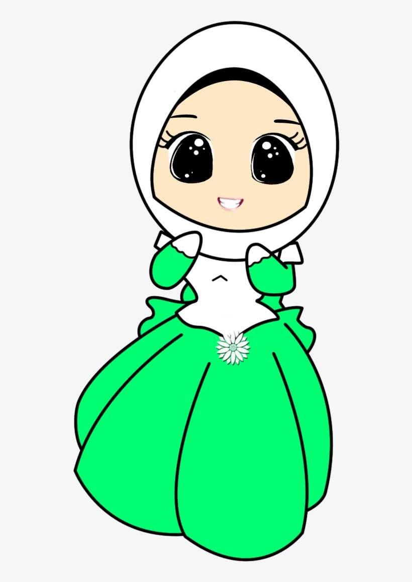 Hijab muhajabbah muslimah anime manga cartoon draw a cute girl wearing hijab