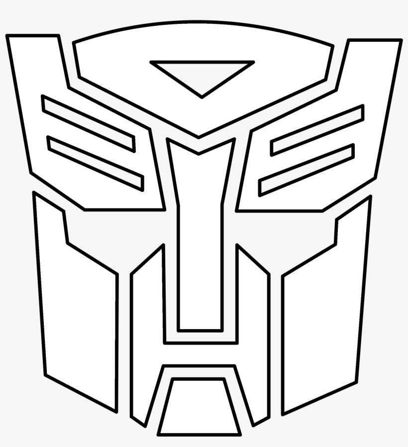 Transformers Autobot Logo Black And White Autobots Transformer Coloring Pages Png Image Transparent Png Free Download On Seekpng
