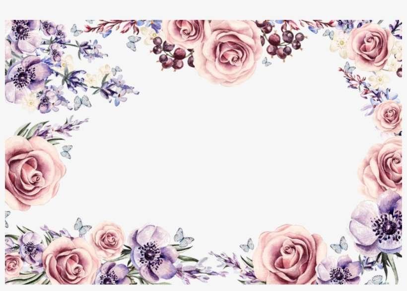 Png Wedding Frames For Photoshop Free Download - Colorful Flower Border Design, transparent png download