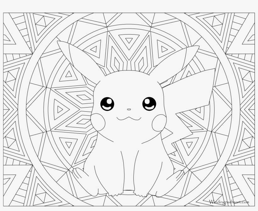 025 Pikachu Pokemon Coloring Page - Pikachu Coloring Pages Adult PNG Image  Transparent PNG Free Download On SeekPNG