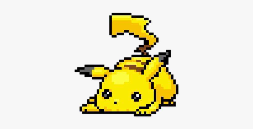 Pikachu Cute And Overlay Image Pixel Art Pikachu Kawaii