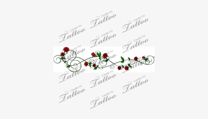Marketplace Tattoo Sbink Green Rose Vine Infinity Sister Tattoo