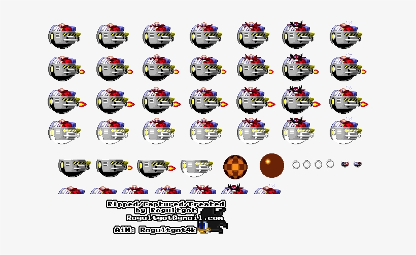 Robotnik Sonic 1 Eggman Sprites Png Image Transparent Png Free Download On Seekpng