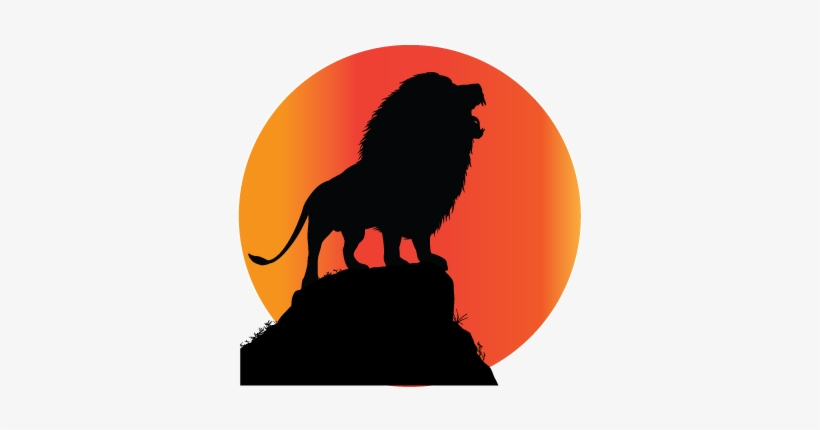 Clipart Freeuse Roaring Lion Clipart Lion On Rock Silhouette Png Image Transparent Png Free Download On Seekpng