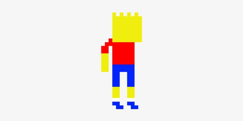 Pixel Art Bart Simpson By Isa Draws Pixel Art Png Image