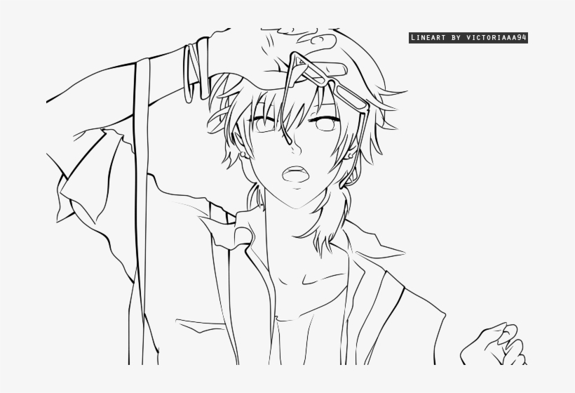 Splendid Ideas Anime Guy Coloring Pages Clever Design Anime Guy