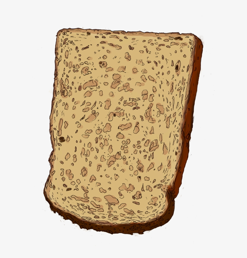 Drawing Bread - Slice Of Bread Drawing@seekpng.com