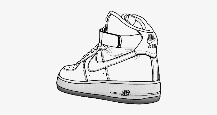 Nike Air Force One Low Line Drawing Air Force Drawings