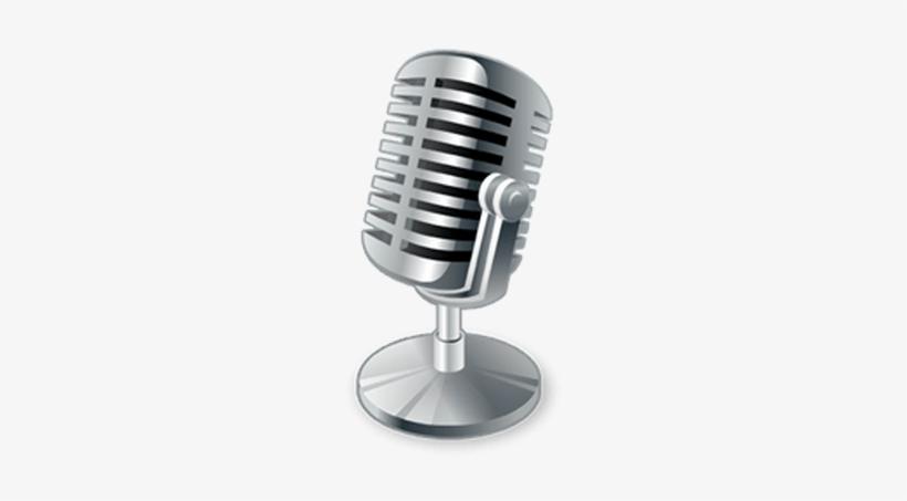 Vintage Podcast Microphone - Transparent Background ...