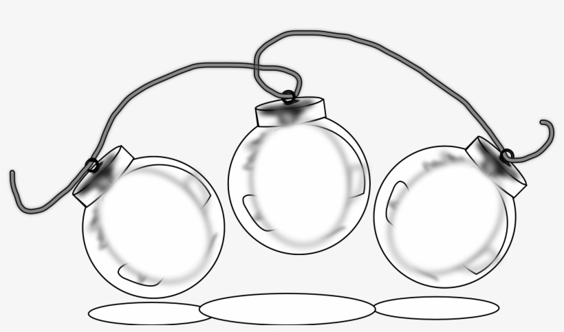 Christmas Balls Clipart Black And White.Christmas Lights Black And White Clipart Christmas Balls