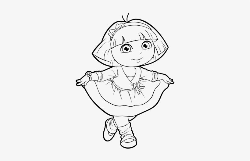 Dora Face Png - Dora Ballet Coloring Pages@seekpng.com
