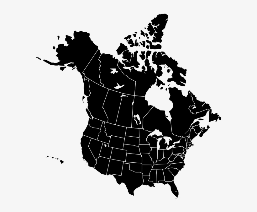 Usa Map Vector Ai - Map Of North America Vector PNG Image ...