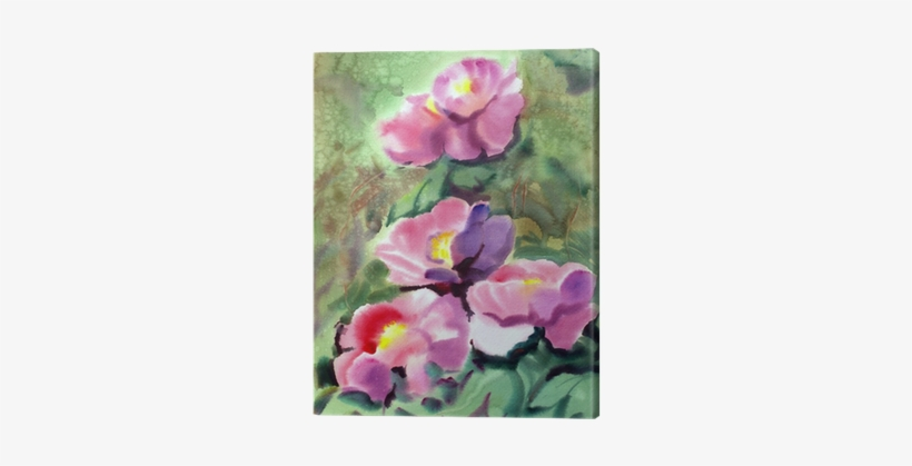 Watercolor Painting Of The Beautiful Flowers Watercolor Painting