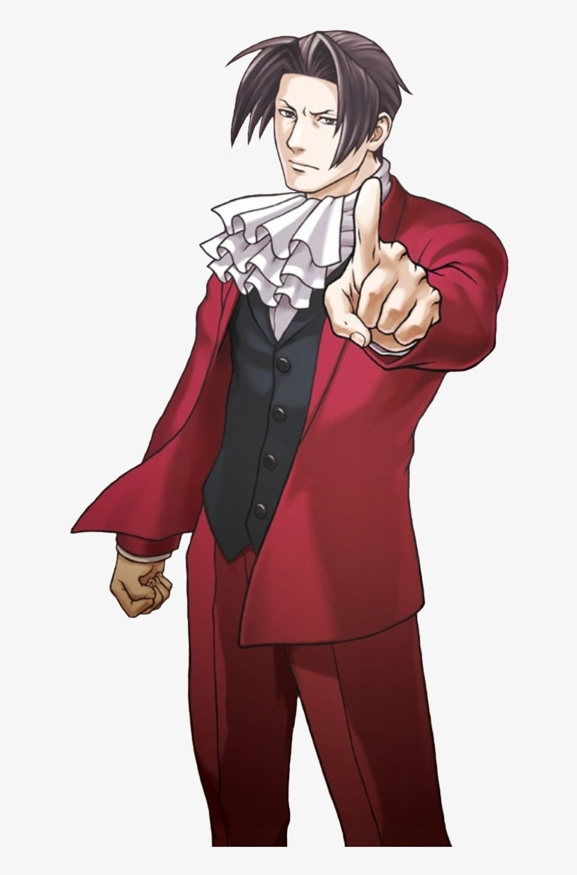 Ace Attorney Miles Edgeworth Transparents Post Png Image