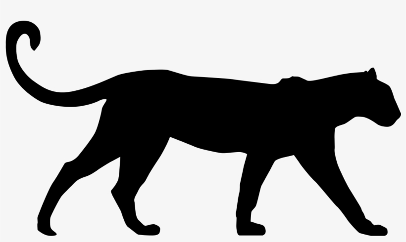 photograph relating to Free Printable Forest Animal Silhouettes named Black Panther Comedian Silhouettes Png Cost-free Printable - Leopard