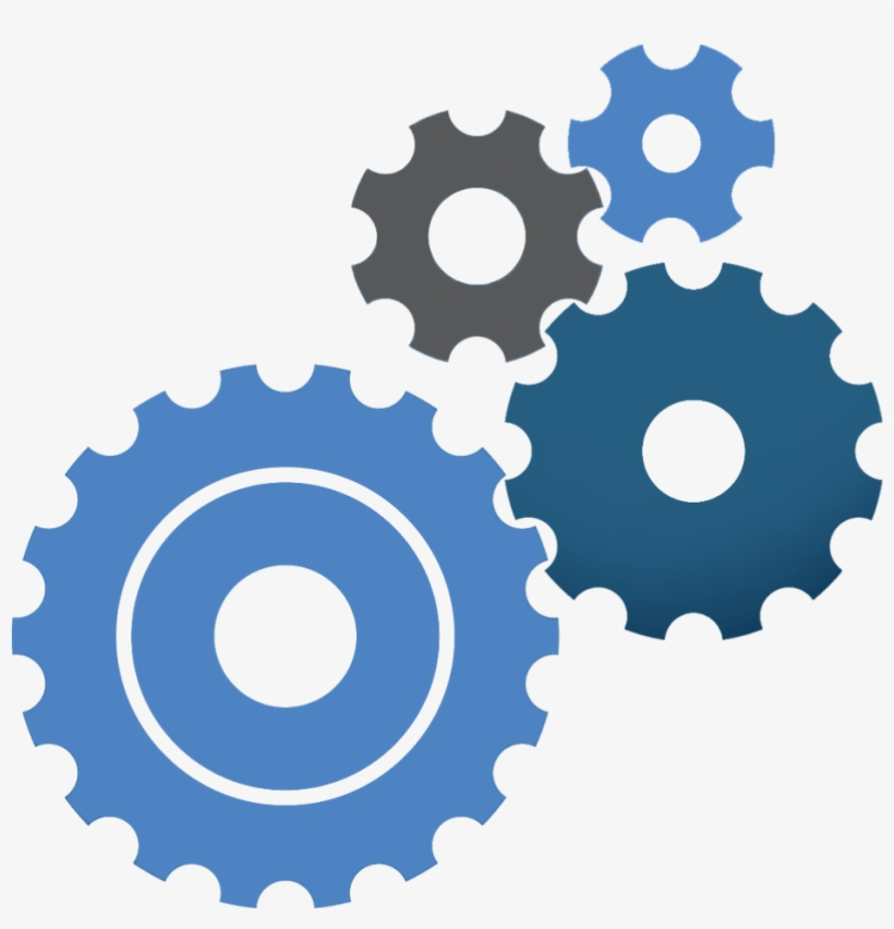 Blue Cog Icon - Gears Vector PNG Image   Transparent PNG