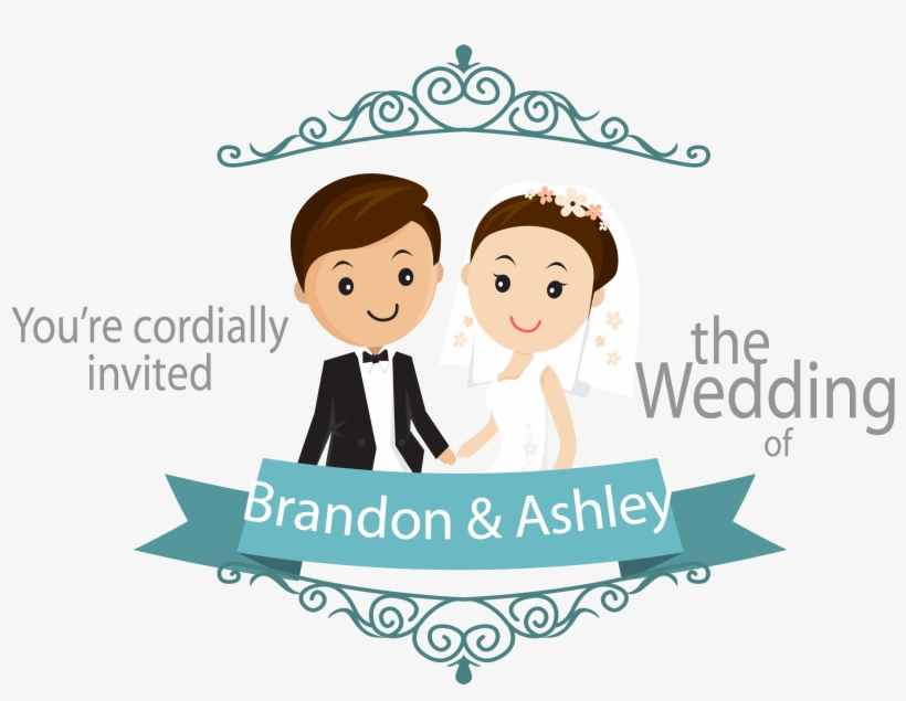 Wedding Invitation Download Vector And Cartoon Wedding Card