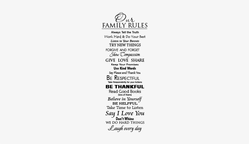 Lovely Hard To Say I Love You Quotes Our Family Rules