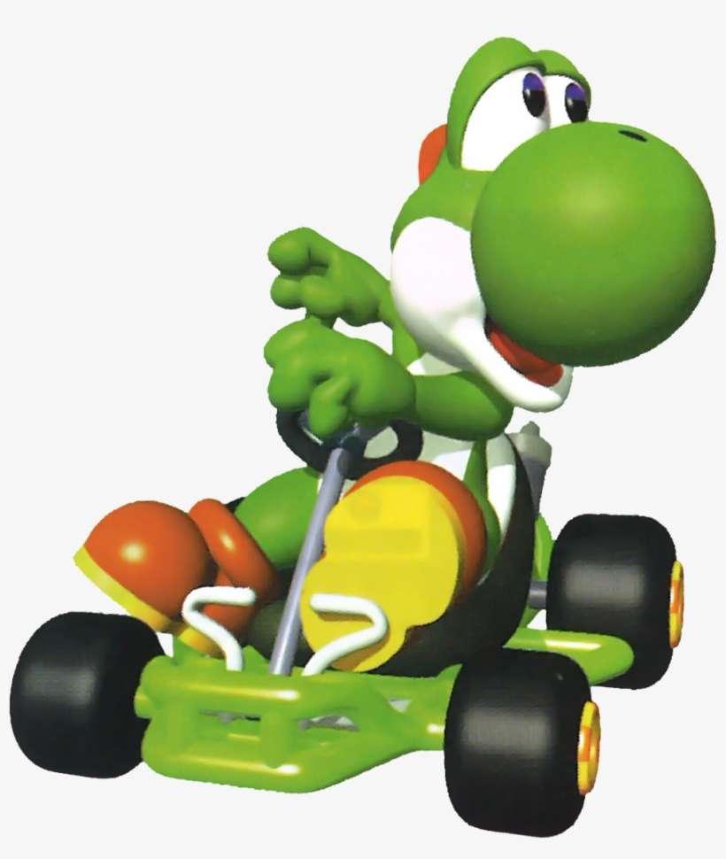 Luigi Yoshi And Toad From Mario Kart Mario Kart 64 Png