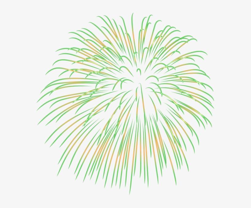 0, - Green Fireworks Clipart Transparent Background PNG ...