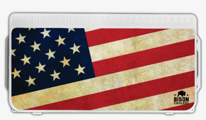 Bison Lid Graphic American Flag - Graphics PNG Image
