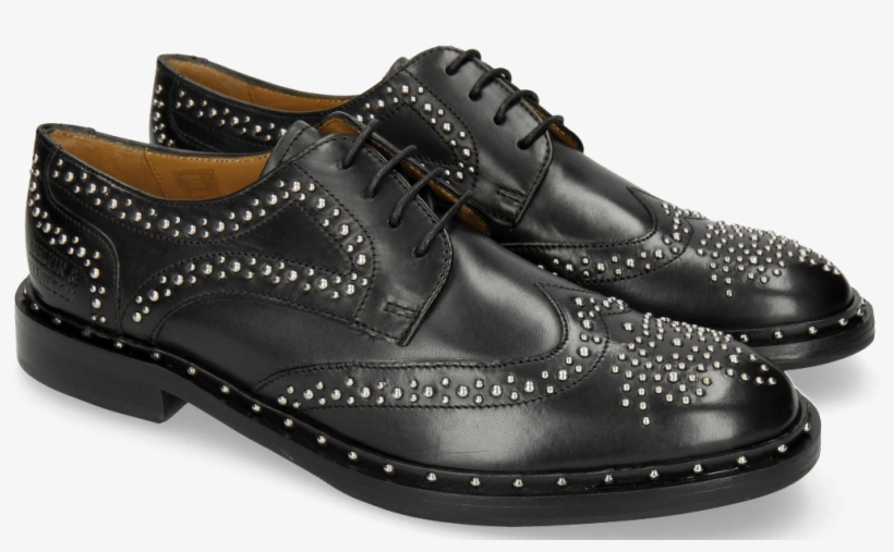 reputable site 74cf5 a88ab Derby Shoes Sally 53 Black Rivets Outside - Melvin ...