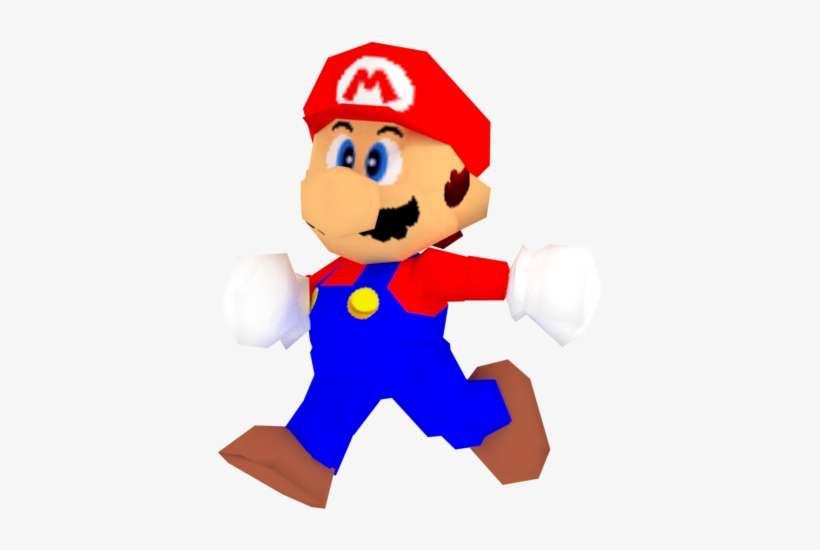 Super Mario 64 Mario Png - Mario Bros Nintendo 64 Png PNG Image