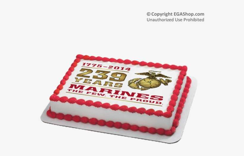 Miraculous 239Th Cake Marine Corps Birthday Cake 239 Png Image Birthday Cards Printable Trancafe Filternl
