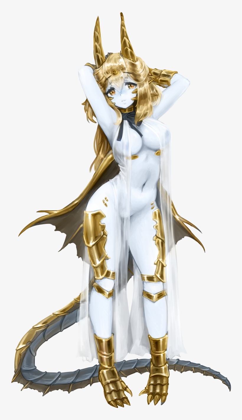 Original) Loading Gold Dragon - Gold Dragon Monstergirl PNG Image