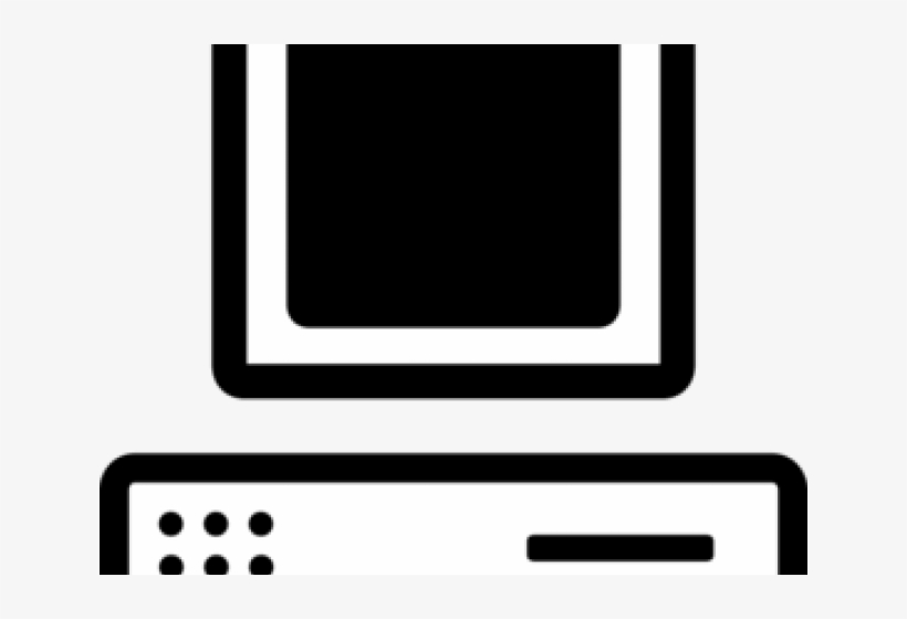 Computer silhouette. Clipart cartoon screen png