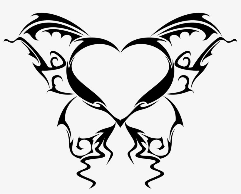e3064dcec1673 Wings Tattoo Png Picture - Heart Tattoo Design Png PNG Image ...