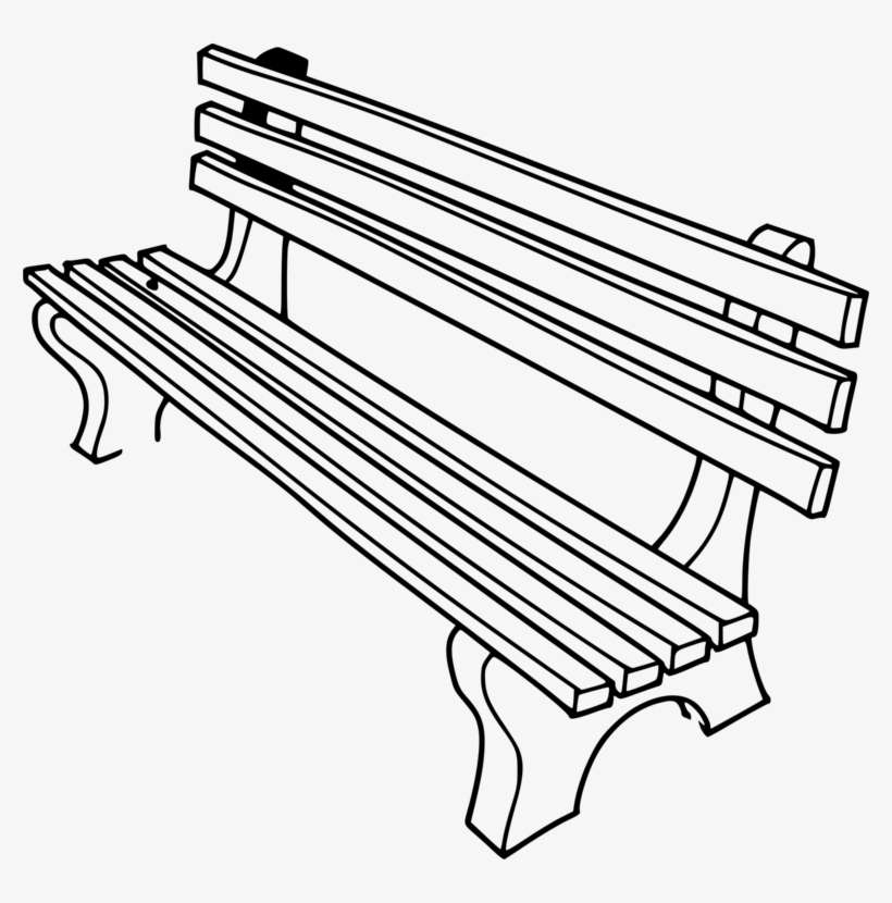 Pleasant Fsa Srl Line Art Monday Bench Clipart Black And White Png Machost Co Dining Chair Design Ideas Machostcouk