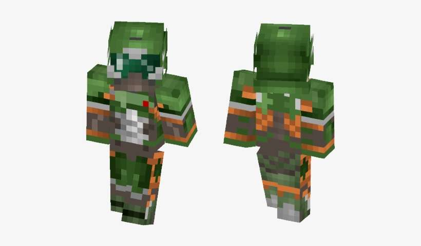 Doom Guy Doom Slayer Lil Uzi Vert Minecraft Skin Png Image