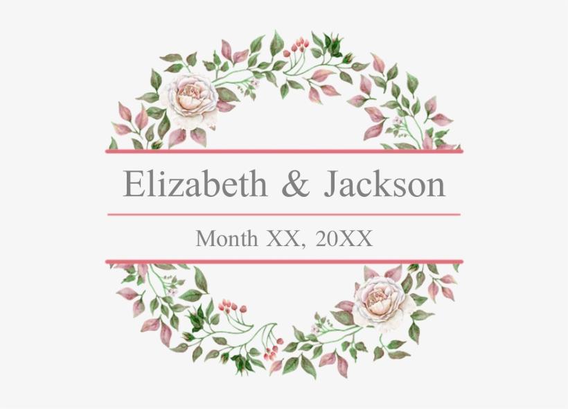 Floral Wreath Wedding Monogram Banner Wedding Invitation Background Png Png Image Transparent Png Free Download On Seekpng