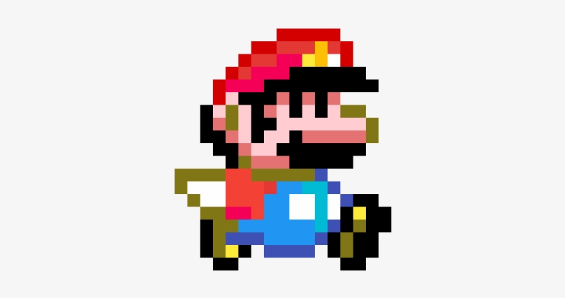 Small Mario Running Super Mario World Pixel Arts Png Image