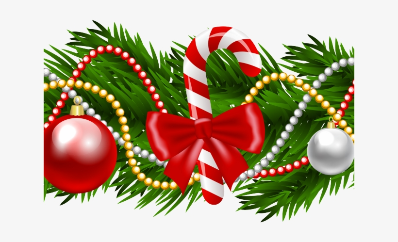 Christmas Clipart Transparent Background.Merry Christmas Clipart Holly Christmas Garland
