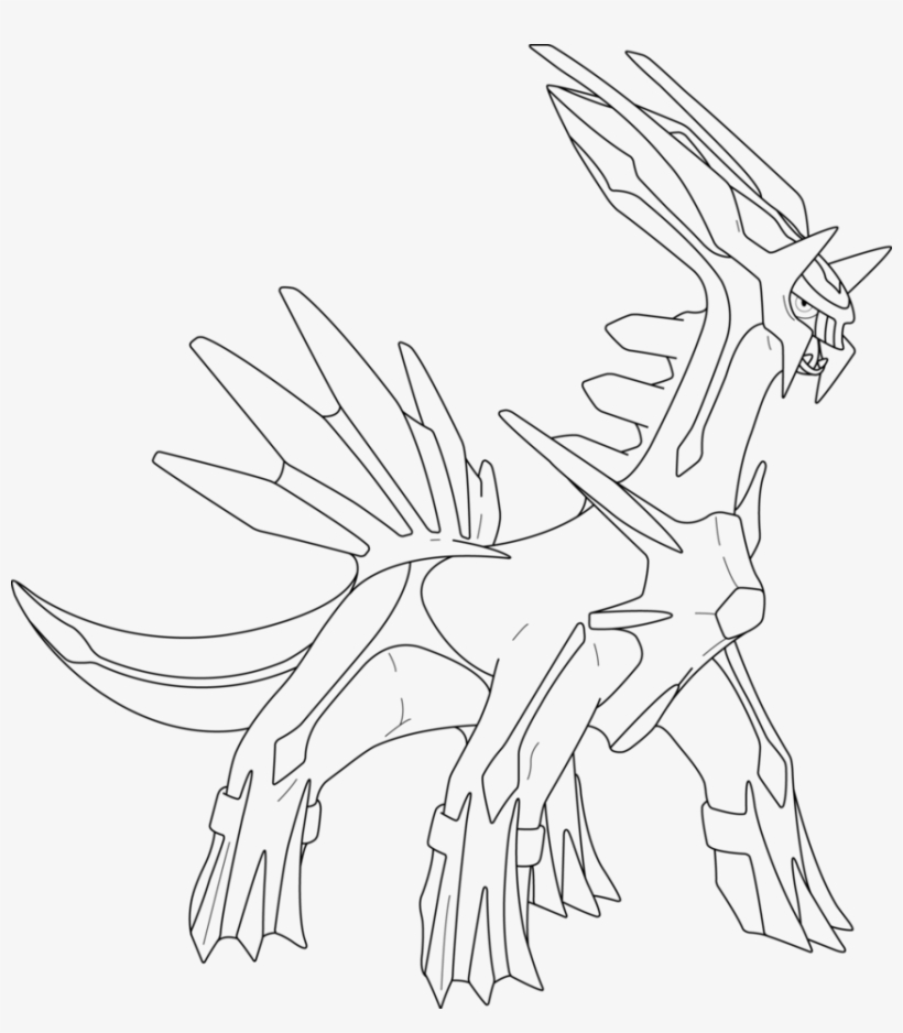 Lineart Of Dialga By Inukawaiilover Legend Pokemon Coloring Pages Png Image Transparent Png Free Download On Seekpng