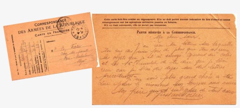 Carte Lettre De Gustave à Sa Sœur Berthe Du 23 Aout